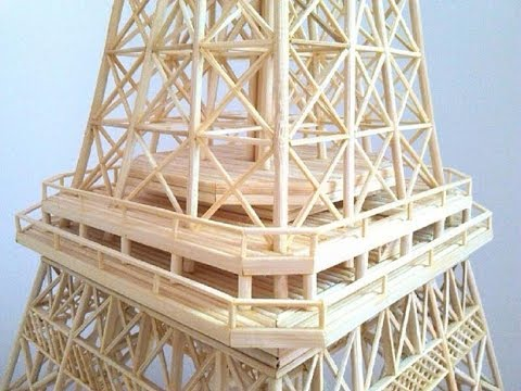 Making of Eiffel Tower with Bamboo Sticks | DIY BamBoo Eiffel tower