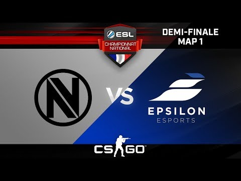 CS:GO - EnvyUs Academy vs Epsilon - Cache - ESL Championnat National - Summer 2017 - Demi-finale#2