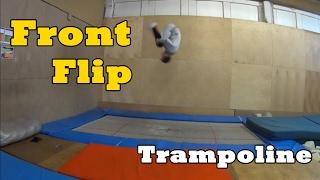 Trampoline: Front Flip (Tutorial) / Батут: Сальто вперед (Видеоурок)