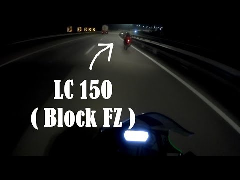 Kawasaki 250SL vs Yamaha LC (block FZ) LEKAS highway
