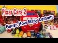 Disney Pixar Cars Lightning McQueen Carry Case, How Many Pixar  Cars2 Lemons In The Case !