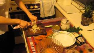 Видеорецепт - суп с сардинами