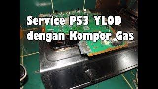 Reballing RSX PS3 YLOD dgn KOMPOR GAS !!