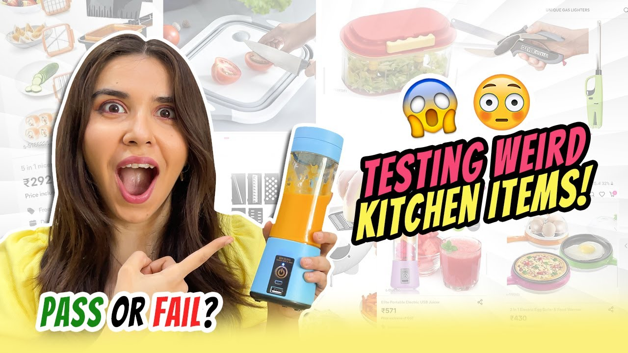 WTH😨?!? I try *WEIRD* kitchen items to help in LOCKDOWN! | Heli Ved