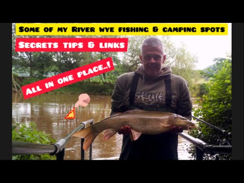 💥MY DETAILED RIVER WYE BARBEL SECRETS💥FISHING & CAMPING IN ONE PLACE👍🏻😉 LINKS IN DESCRIPTION BELOW👇👇