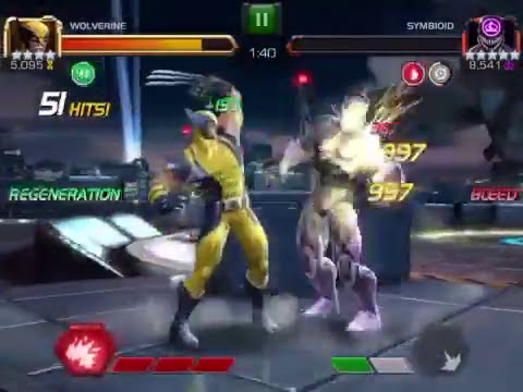 Marvel Contest of Champions Wolverine vs Tier 2 Map 5 Brute Force!