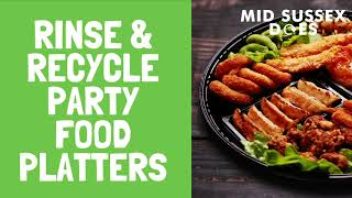 Buying party food or cheese selection boards this Christmas? Remember plastic party food platters...