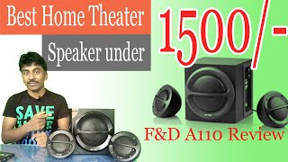Best home theater speaker under 1500 - F amp D A110 2 1 Multimedia Speakers review