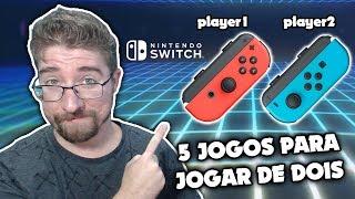 CINCO JOGOS para jogar de DOIS no Nintendo Switch
