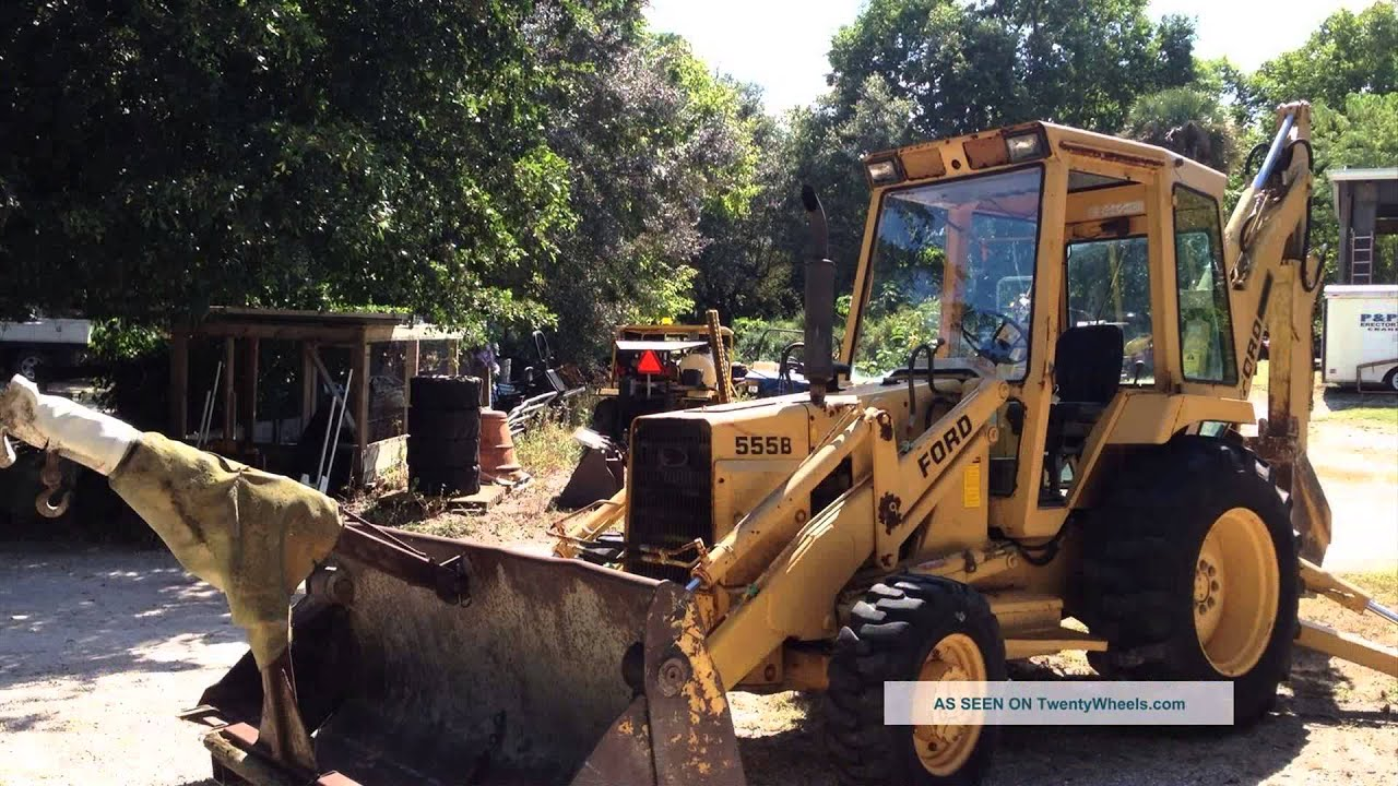 ford 555 backhoe  YouTube