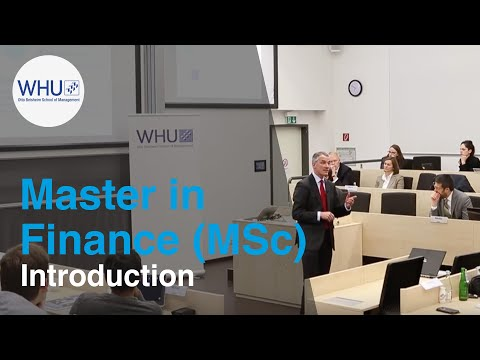 Master in Finance (MSc) Introduction