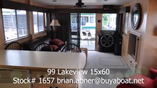Houseboat- 99 Lakeview 15x60 from BuyaBoat.Net