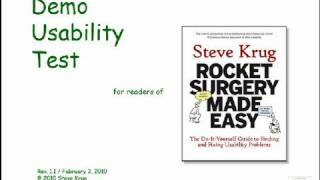 Rocket Surgery Made Easy by Steve Krug: Usability Demo thumbnail