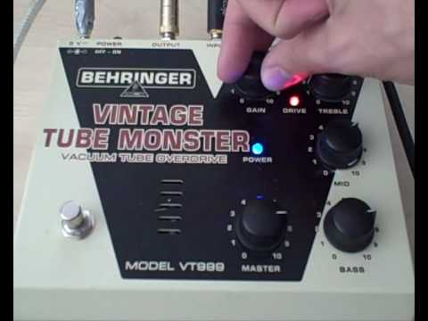 Behringer Vintage Tube Monster overdrive/distortion pedal