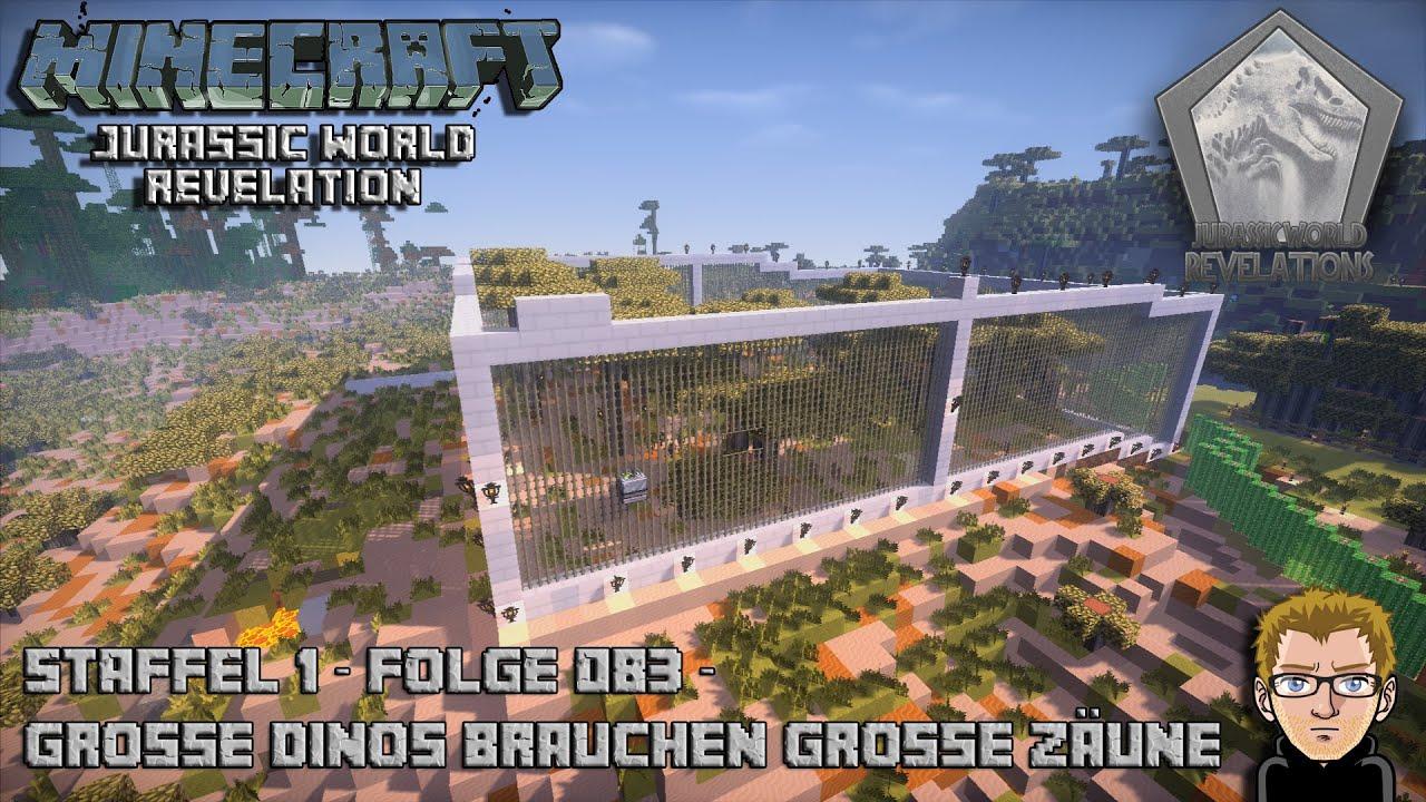 Jurassic World Große Dinos Brauchen Große Zäune AT Launcher - Minecraft dinotopia spielen