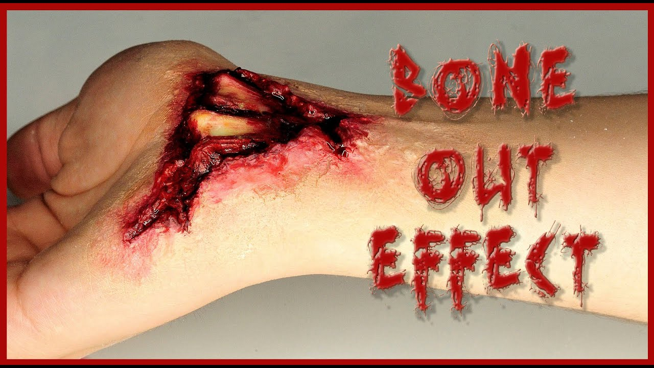 Broken wrist, Bones out FX Makeup | Silvia Quiros - YouTube