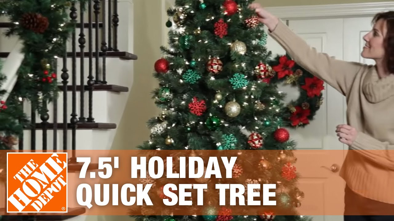 Home Accents 7.5' Holiday Quick Set Tree - YouTube