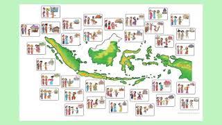 Tematik Kelas V Tema 1 (Peta Persebaran Penduduk, Suku, dan Curah Hujan)