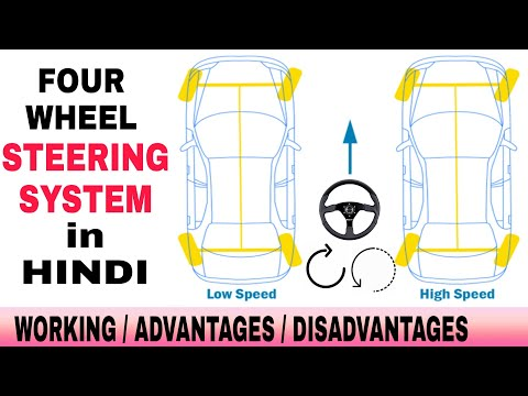working-of-four-wheel-steering-system-in-hindi-|-advantages-and-disadvantages-of-4-wheel-steering