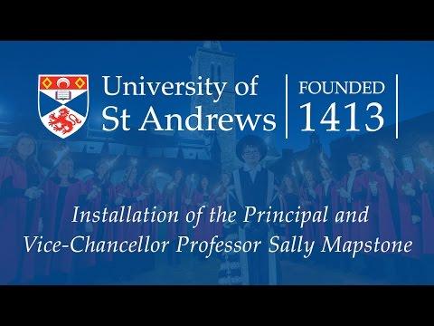 Installation of the Principal and Vice-Chancellor Professor Sally Mapstone