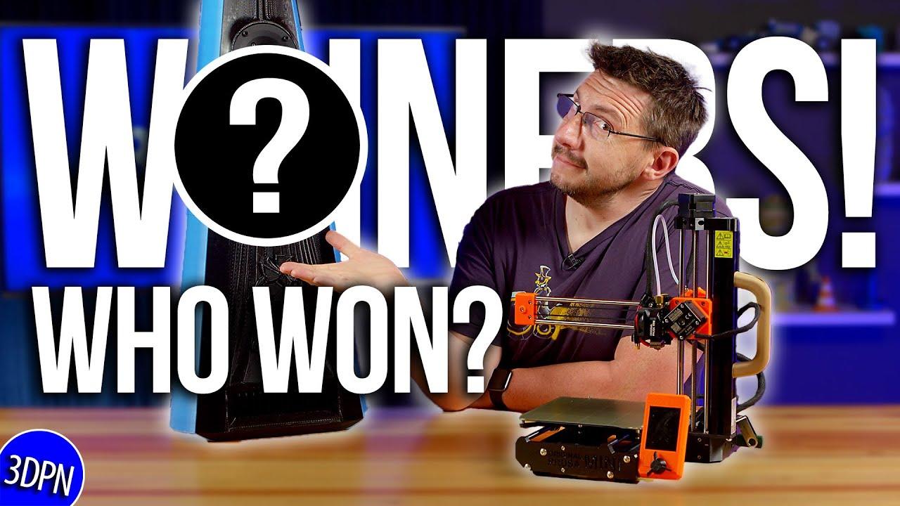 Who Won the Prusa MINI? #3DPNSpeakerCover