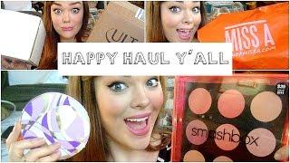 makeup haul   smashbox tarte sephora ulta bareminerals shop miss a influenster