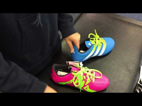 Choosing my new boots at sports direct