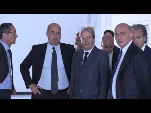 Ariccia (Roma) - Nuovo ospedale dei Castelli Romani, Gentiloni visita il cantiere (22.05.17)