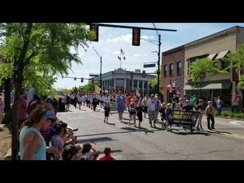 North Farmington High School Marching Band - Memorial Day Parade 2016