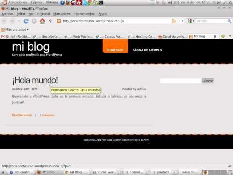 VideoTutorial 4 del Curso sobre WordPress