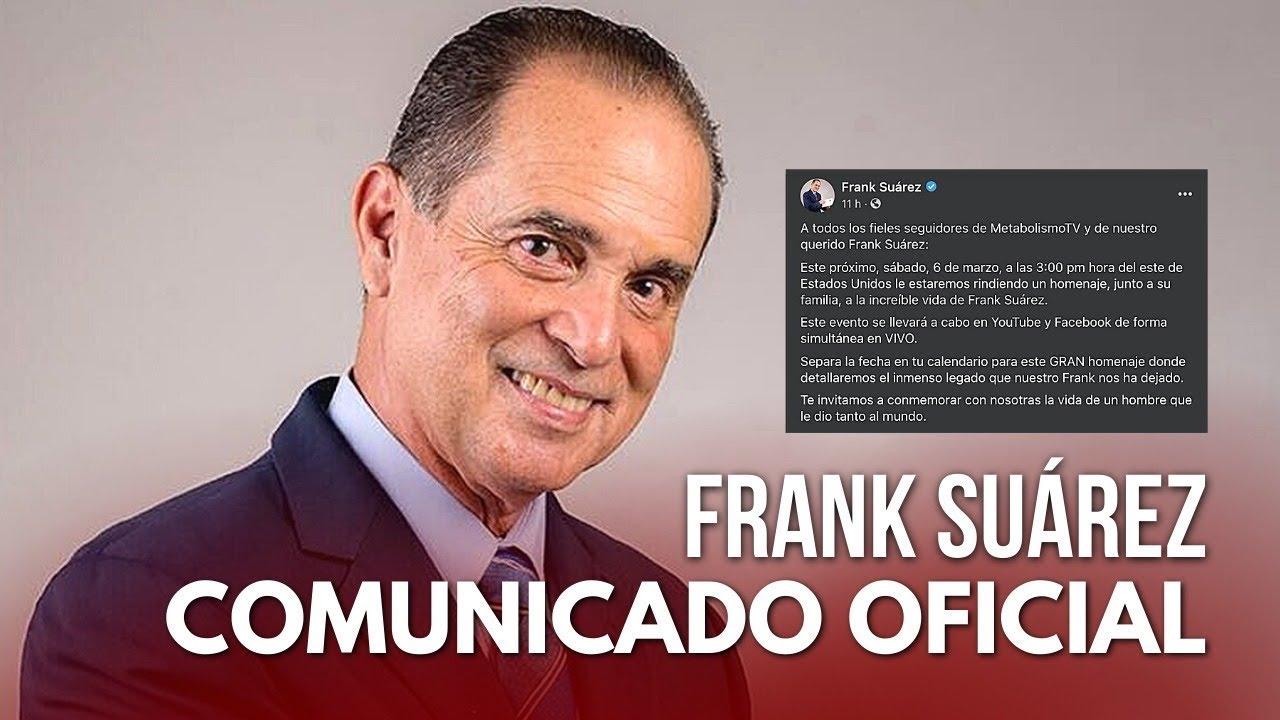El equipo de FRANK SUÁREZ publica Comunicado