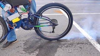 Велосипед с движком 15 киловатт !!! - До сотки разгонится ???
