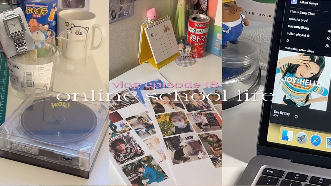 s2 vlog 🛋 online school life: waffle icecream, journaling and stu(dying)