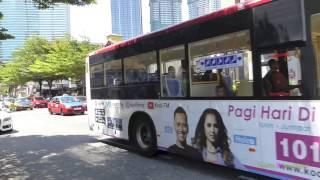Buses in Kuala Lumpur, Malaysia 2016