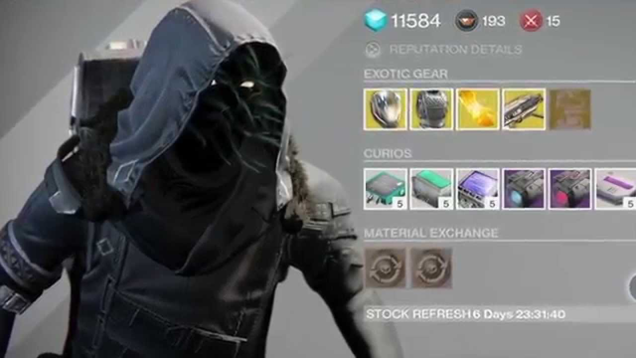 Destiny Xur New Location Christmas December 26/12/14 - YouTube