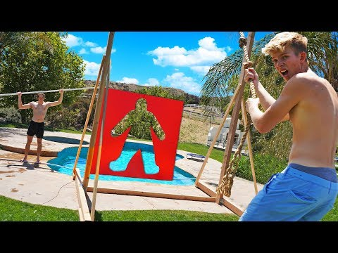 Rope Swinging through IMPOSSIBLE Shapes!! *LOSER BELLY FLOPS*