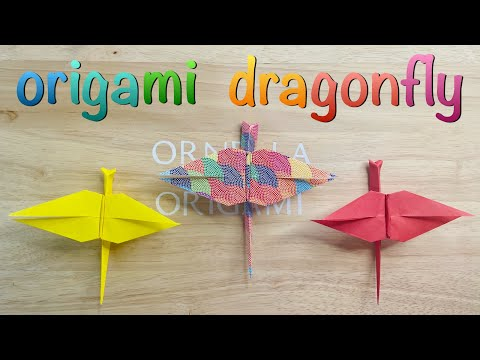 Easy dragonfly origami   Fun Birthday Decorations and Gifts   Cute Summer Party Favors