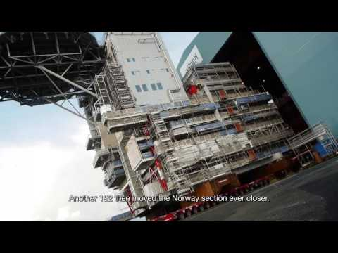 Offshore module transport and load-out, Thailand-Norway