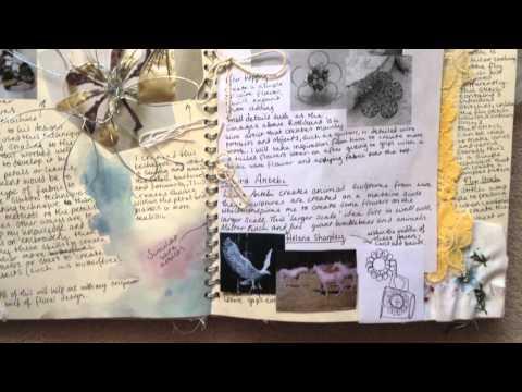 AS Textiles Sketchbook