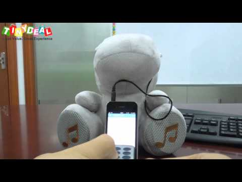 Cute Hippo Doll Speaker, Music Player with Remote Control