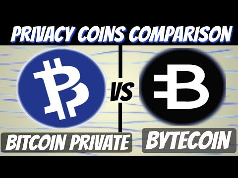 Bitcoin Private vs Bytecoin (Comparison Video)