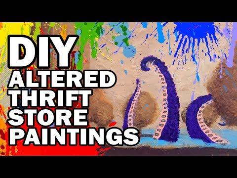 🎨 DIY Altered Thrift Store Art