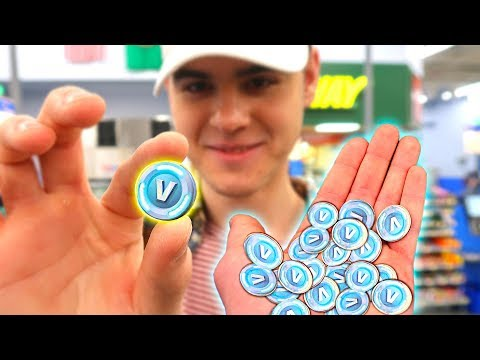 BUYING THINGS WITH REAL LIFE V-BUCKS! (Fortnite in Real Life) | David Vlas