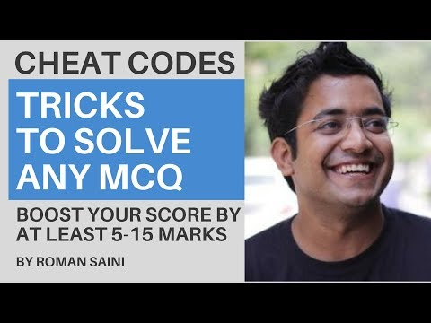 UPSC CSE Prelims Alert - Tricks/ Cheat Codes To Solve Any MCQ By Roman Saini