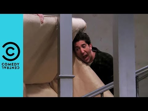 Pivot! Pivot! Pivot! - Ross Tries To Move The Sofa | Friends