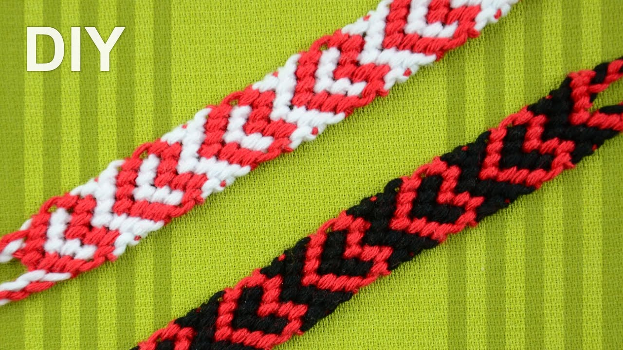 heart friendship bracelet for valentines day diy tutorial - Valentines Day Bracelet