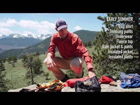 Sierra Designs- Recommended clothing for backpacking in the Mountain West with Andrew Skurka