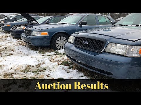 State Surplus Vehicle Auction Results