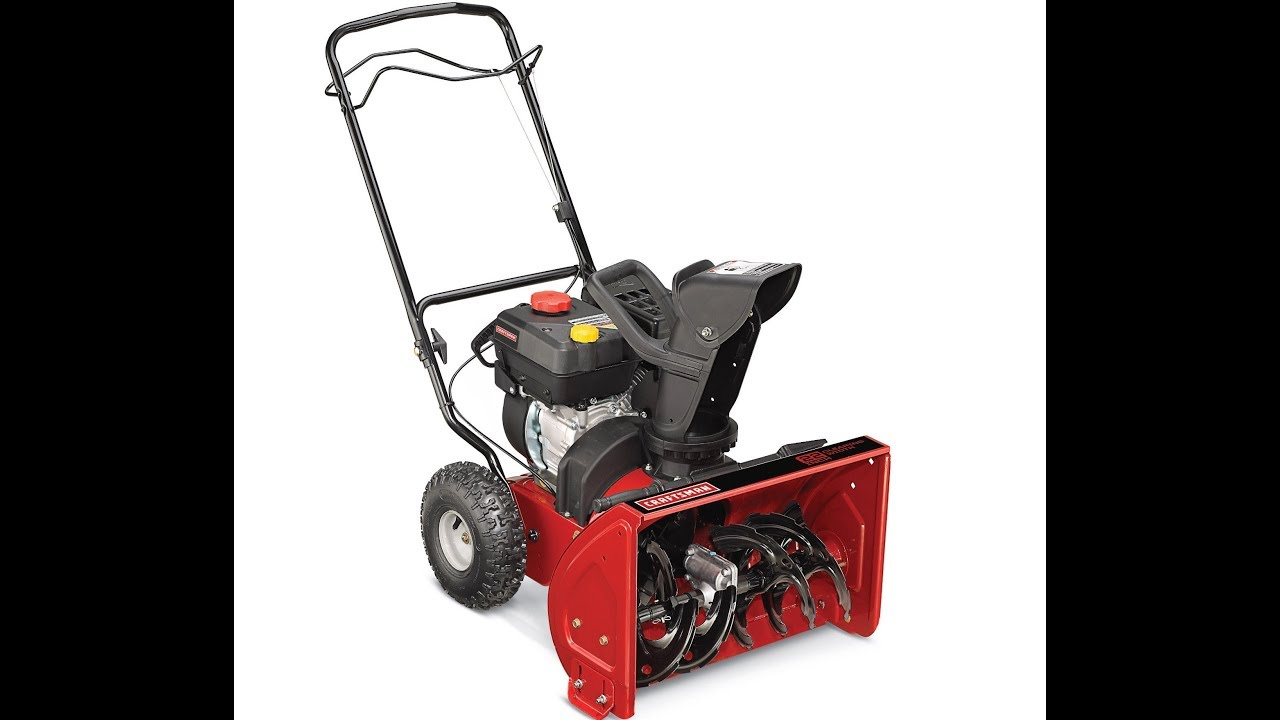 Craftsman 22 Dual Stage Snow Thrower 247 881980 Vs Nyc Blizzard 2018 Bomb Cyclone Youtube