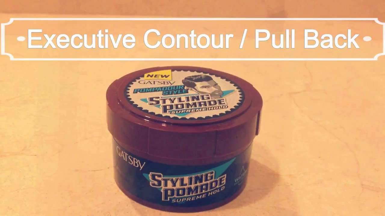 Pullback With Gatsby Styling Pomade